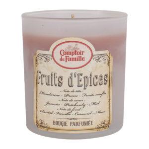 bougie parfumée fruits d'épices comptoir de famille