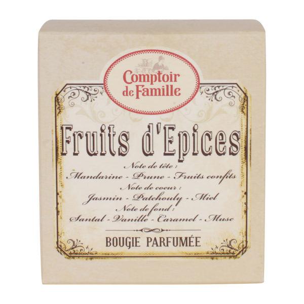 fruits d'épices comptoir de famille bougie parfumée