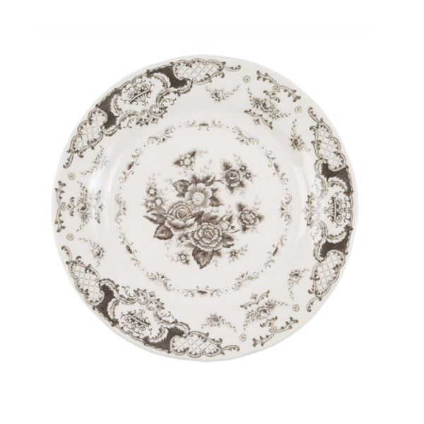 assiette dessert Clothilde gris