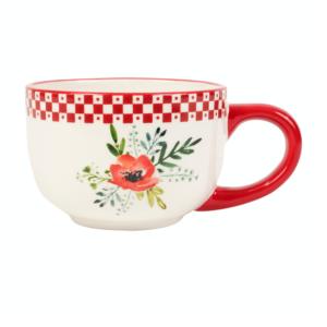 Tasse Déjeuner Blandine Rouge En Dolomite - Comptoir de Famille