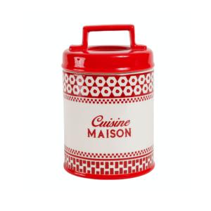 Pot Avec Couvercle Carreau Rouge En Dolomite - Comptoir de Famille