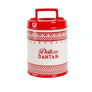 """Pot Avec Couvercle Carreau Rouge En Dolomite """"Délices d'antan"""" - Comptoir de Famille"""