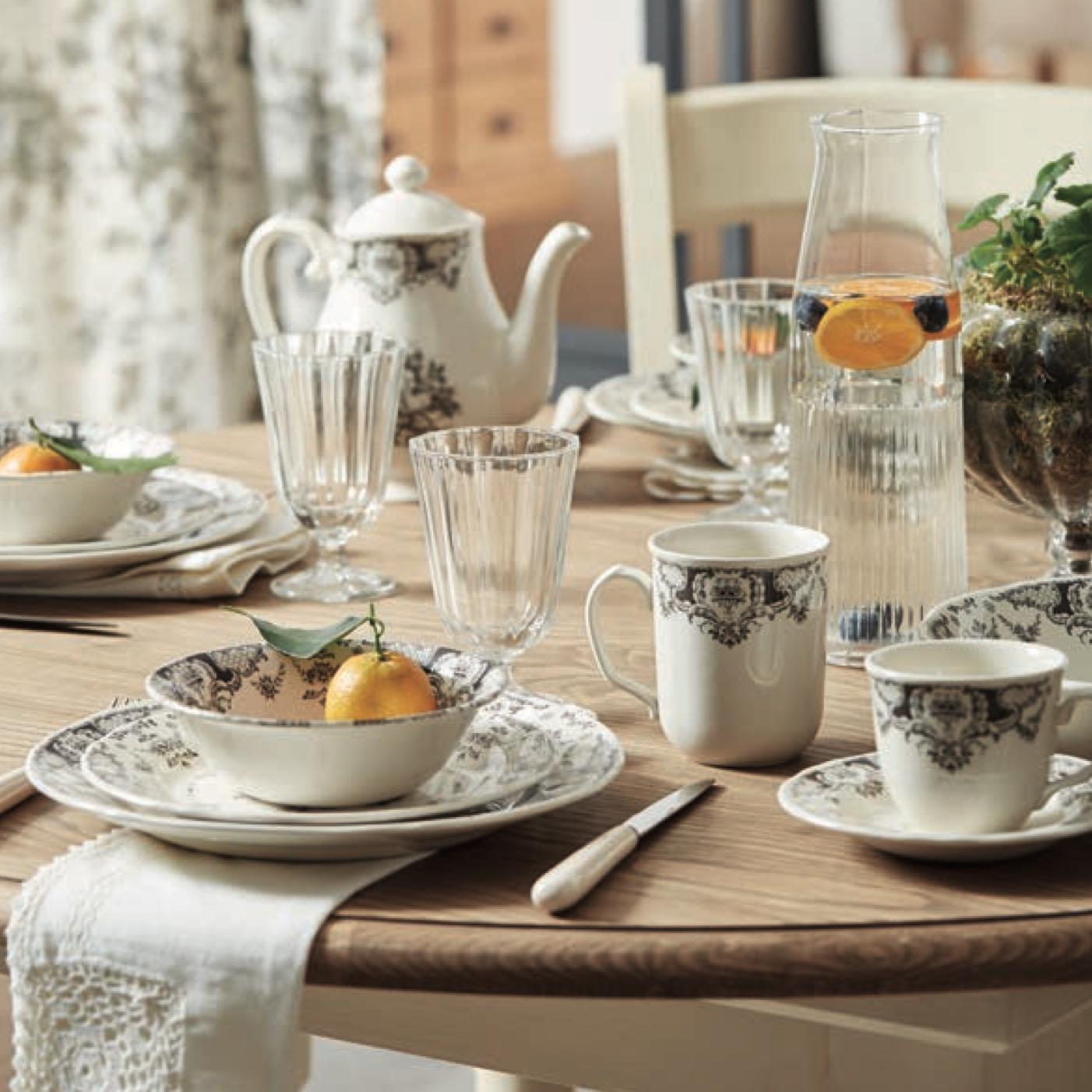 service de table Clothilde gris comptoir de famille
