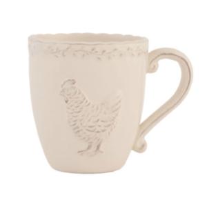 Mug couleur crème collection poule claire en eef