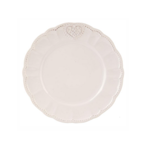 assiette à dessert 21 cm de diamètre clayre en eef coeur