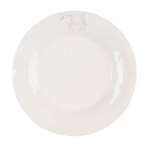 assiette à diner en céramique collection vache
