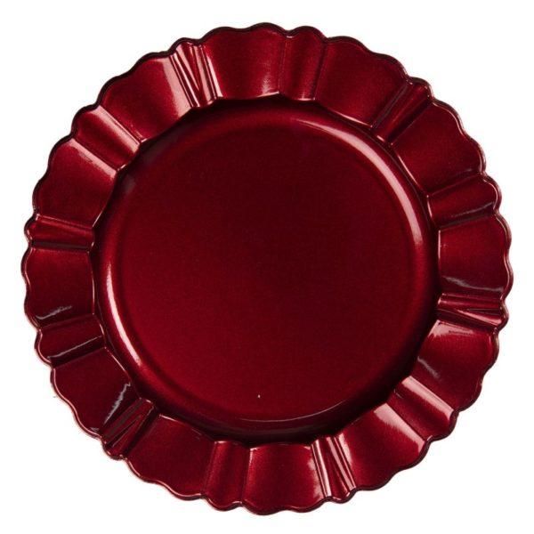 Sous assiette rouge décorative