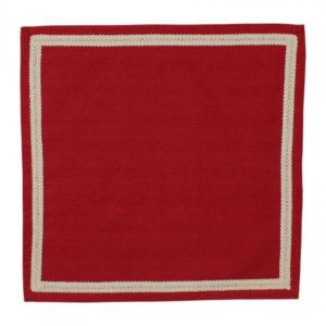 serviette en tissus mamie carreaux rouge