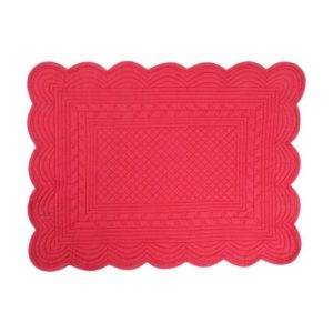set de table boutis rouge