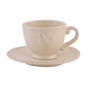 tasse et sous tasse collection poule claire en eef