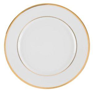 assiette de présentation ginger dorée vintage