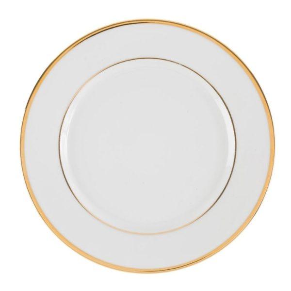 assiette à dîner ginger dorée