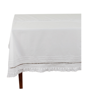 nappe blanche en coton