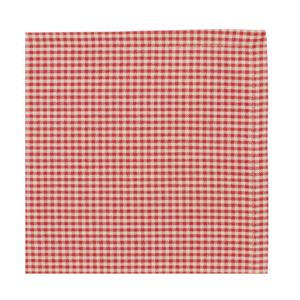 serviette en tissus carreaux rouge thème campagne comptoir de famille