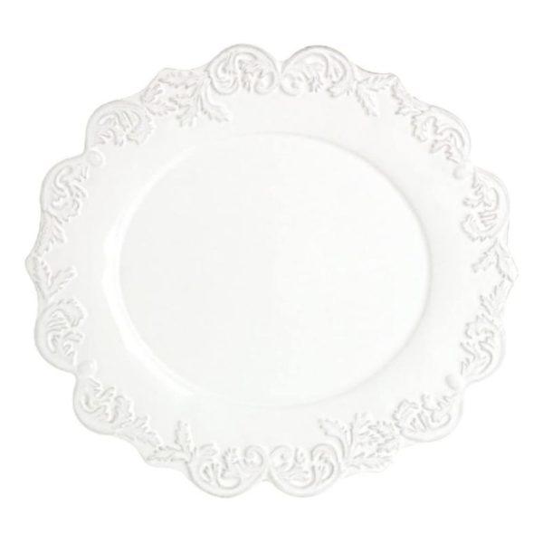 assiette plate Trianon blanc