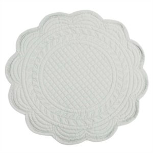 set de table rond boutis gris perle