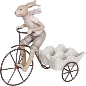 porte oeufs statue décorative de pâques en résine
