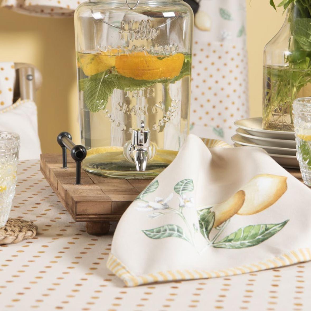 linge de table citrons d'été cocoon bis
