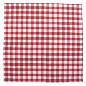 serviette en tissus petite poule rouge vichy