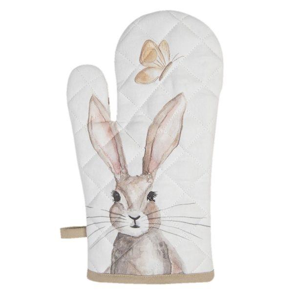 gant au four textile lapin