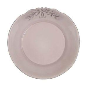 assiette profonde vieux rose en céramique