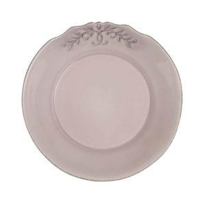 assiette à dessert en céramique couleur vieux rose style shabby chic