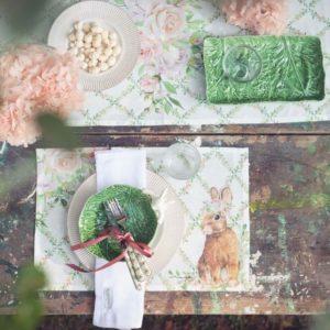 art de la table pâques lapin