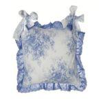 housse de galette de chaise bleu et blanc toile de jouy marque blanc mariclo