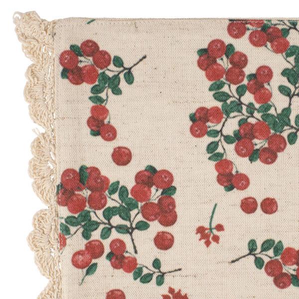 set de table en coton et en lin nouveauté comptoir de famille collection groseille 45x30 cm