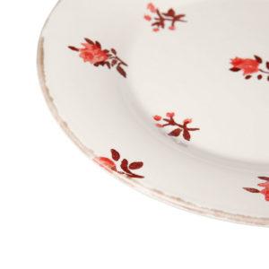 assiette à dessert détail de la collection belle saison comptoir