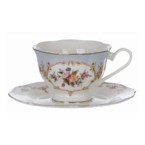 Tasse à Café En Porcelaine Bleue Et Blanche 22 cl en porcelaine shabby chic romantique marque blanc mariclo