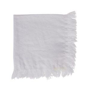 serviette blanche en tissus 35x35 cm yliades