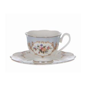 tasse à Nespresso en porcelaine bleue et blanche porto venere style shabby chic romantique