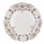 assiette à dîner en porcelaine bleue et blanche collection porto venere de la marque blanc mariclo 27 cm de diamètre romantique