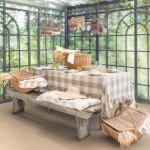 textile de cuisine style campagne chic bohème