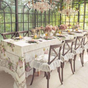 décoration de table romantique mariage ou communion