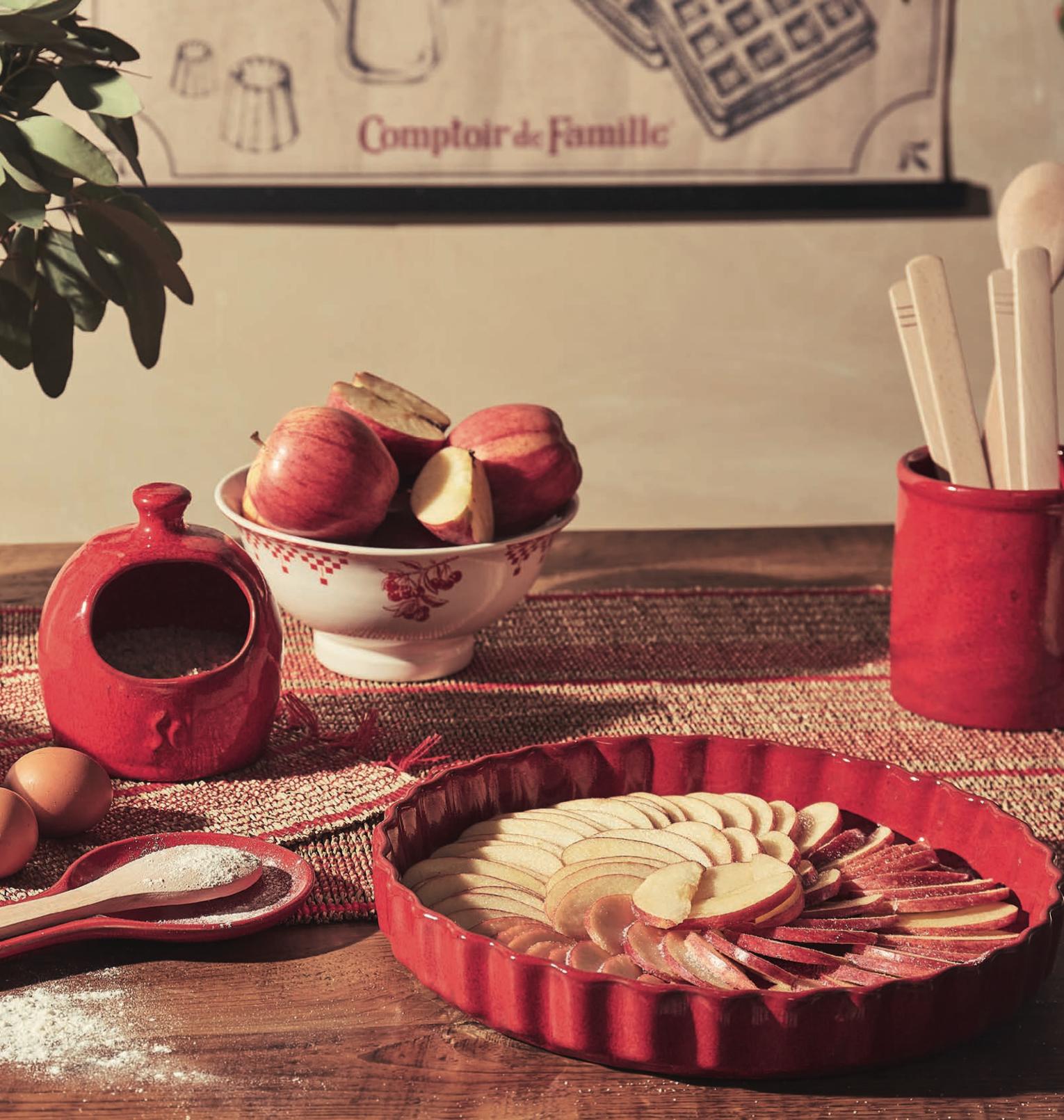 nouvelle collection en grès rouge Suzanne comptoir de famille