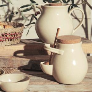 pot à olive en céramique beige comptoir de famille