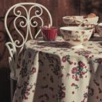 nappe groseille beige et rouge comptoir de famille