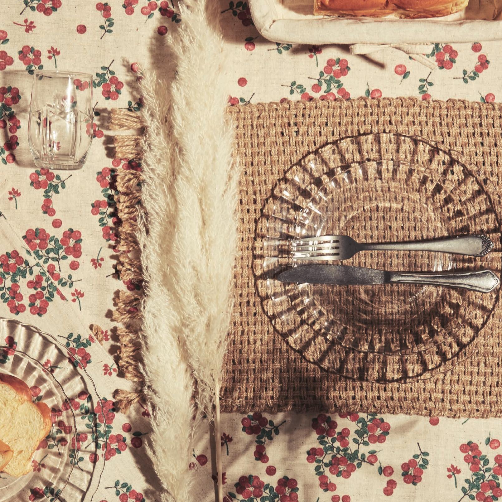 art de la table groseille d'été comptoir de famille
