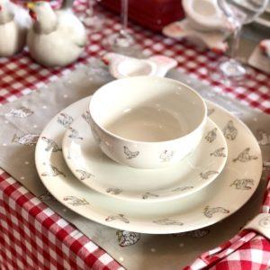 vaisselle poule en céramique pour pâques