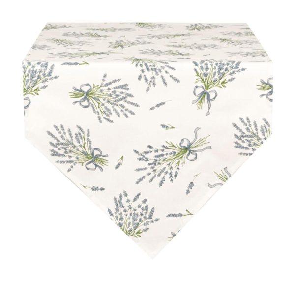 acheter chemin de table en pointe blanc avec lavande