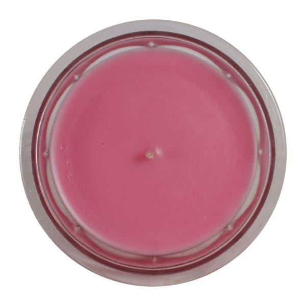 bougie parfumée rose senteur macaron framboise pot de confiture