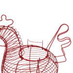 panier en fer forgé rouge cuisine campagne chic