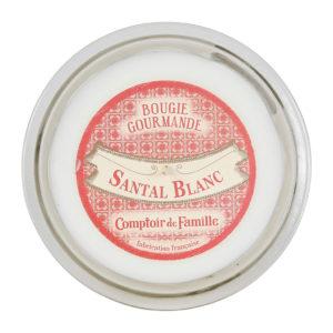achat bougie parfumée blanche comptoir de famille 220g