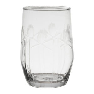 gobelet en verre gravé transparent comptoir de famille 25 cl
