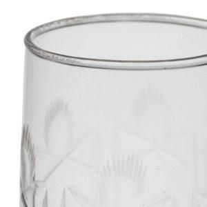 gravure gobelet en verre haut de gamme comptoir de famille