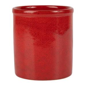 range couvert en grès rouge comptoir de famille
