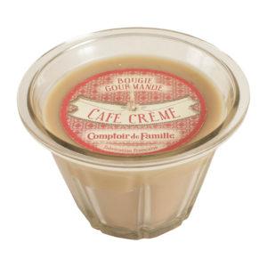 bougie en verre senteur café crème 220g