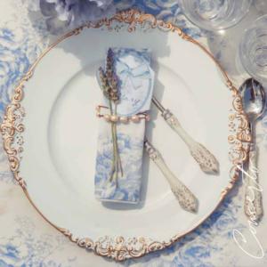 assiette décorative blanc mariclo concerto achat style anglais romantique